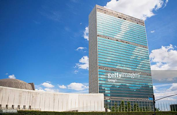 office building - united nations building stock pictures, royalty-free photos & images