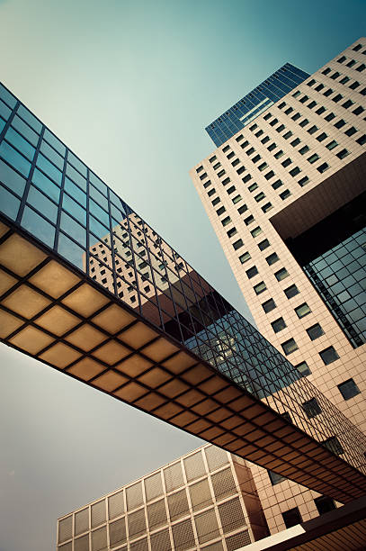 Office building with a bridge