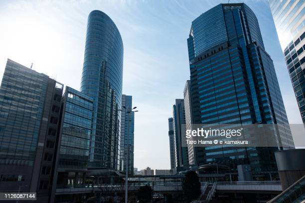 Office buildings in front of JR Shinagawa station in Minato Ward of Tokyo in Japan