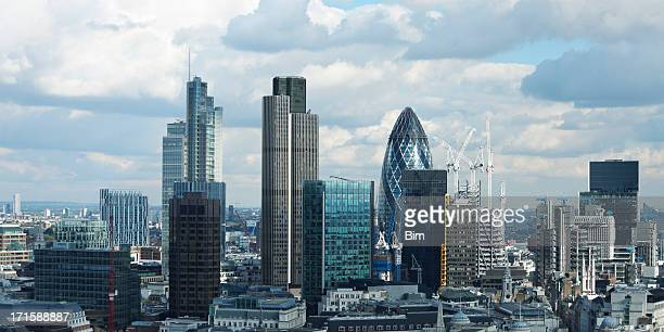 office buildings in london, england - london financial district stock photos and pictures