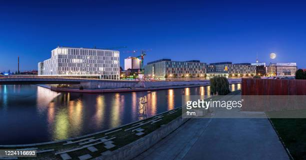 office buildings in the government district (berlin, germany) - spree river stock pictures, royalty-free photos & images