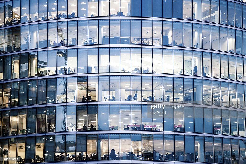 office building facade. Office Buildings In The Night Building Facade I