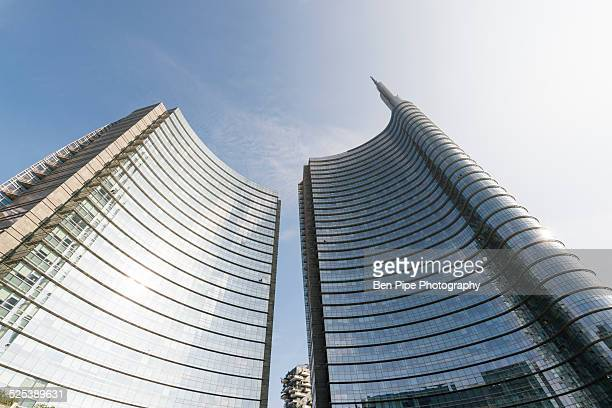 Office buildings, Piazza Gae Aulenti, Milan, Lombardy, Italy