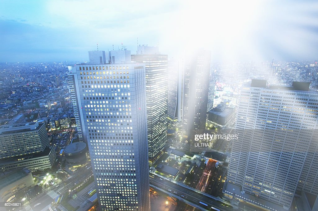 Office buildings. : Stock Photo