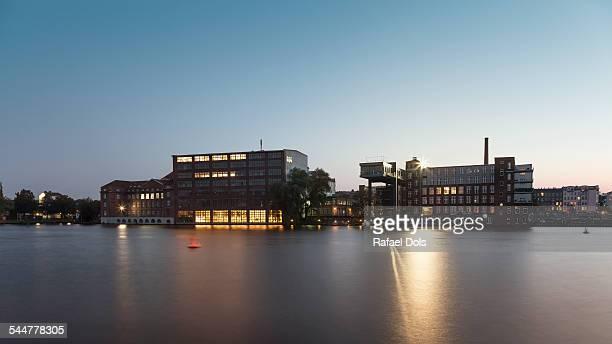 Office buildings, River Spree, Berlin, Germany