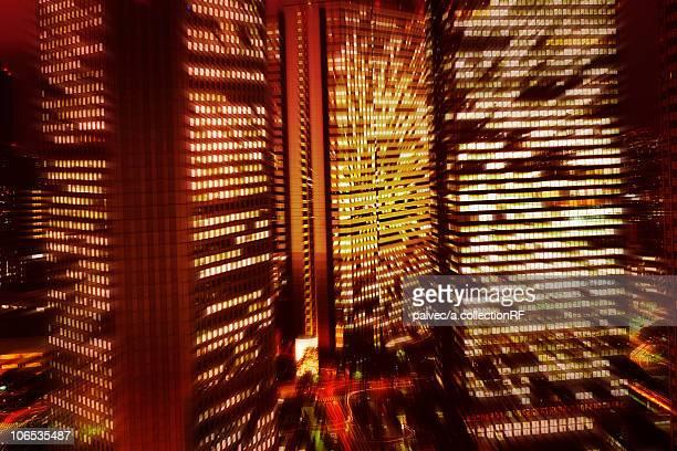 Office buildings, Shinjuku Ward, Tokyo Prefecture, Honshu, Japan