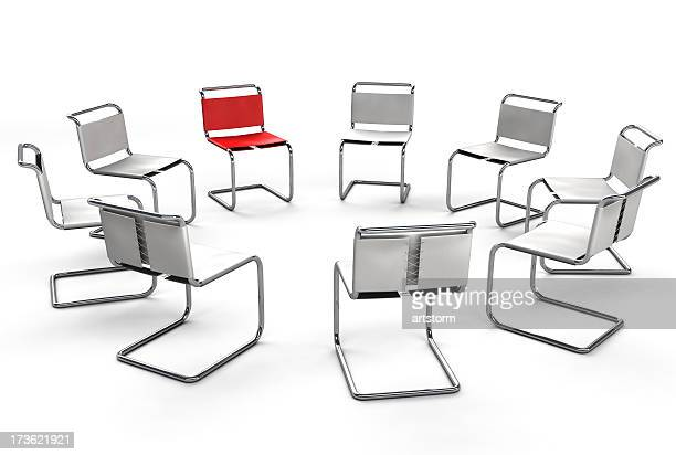 Office Chair Concept - Circle Group Meeting
