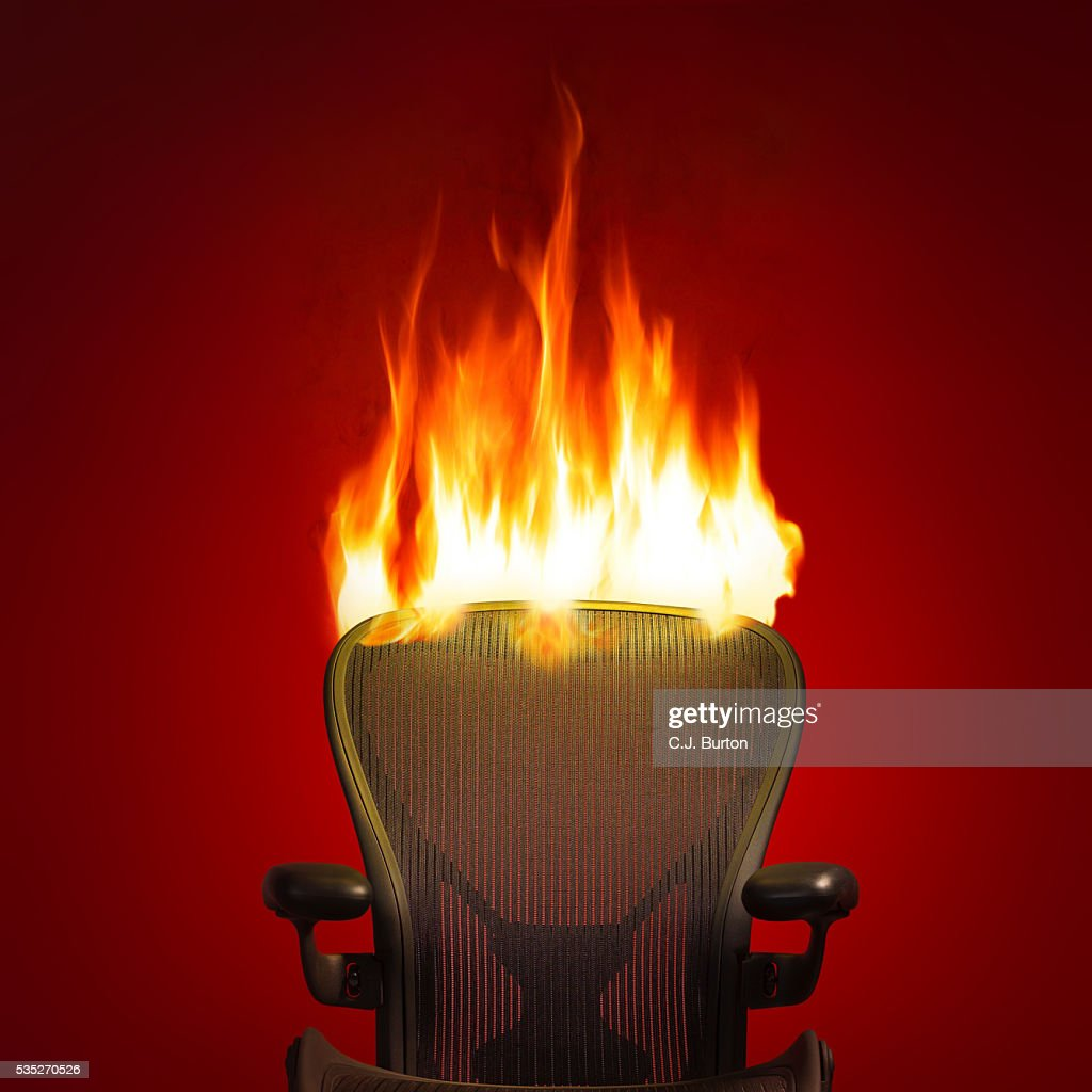Awesome Office Chair On Fire : Stock Photo