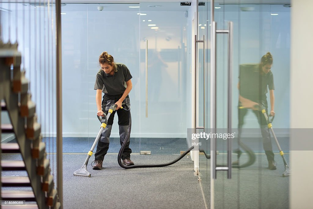 office cleaner : Stock Photo