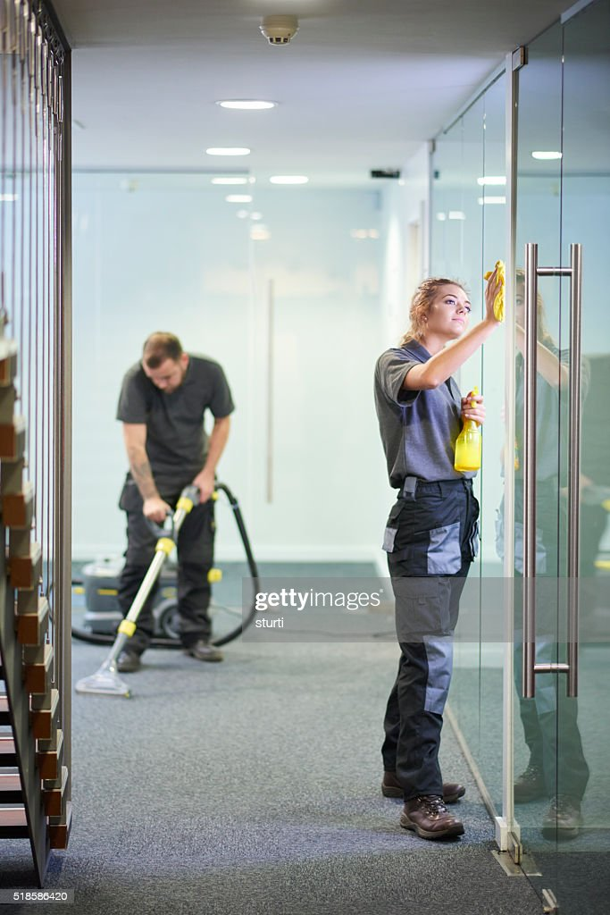 office cleaners : Stock Photo