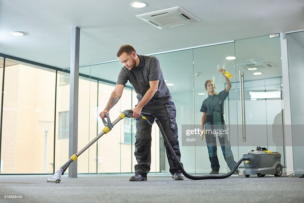 office cleaning contractors : Stock Photo