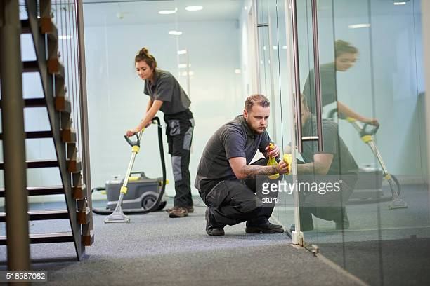 office  cleaning contractors - commercial cleaning stock photos and pictures