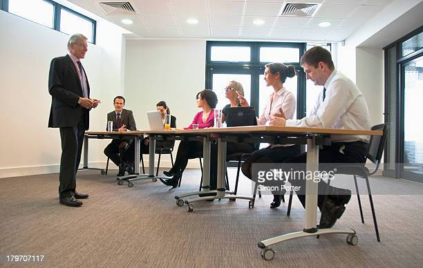 Office colleagues meeting in conference room