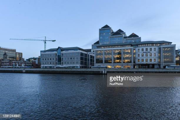 Office complex that includes 1GQ offices , CDB Aviation offices, Amundi Asset Management offices and Ulster Bank Capital Markets offices, seen on...