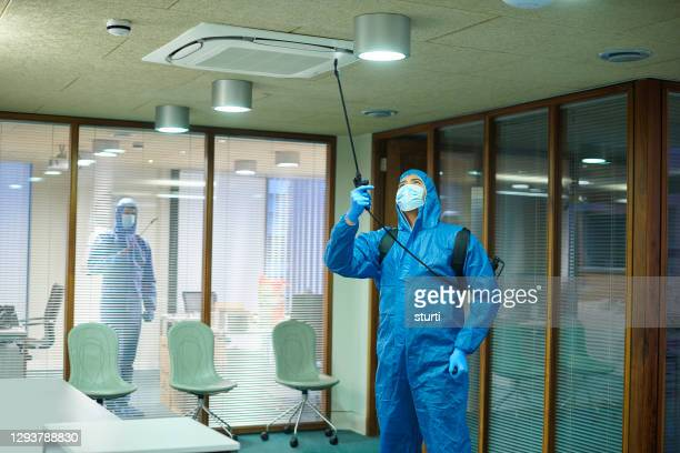 office covid deep clean - cleaning agent stock pictures, royalty-free photos & images
