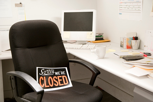 Office Desk Chair With Closed Sign 526180097