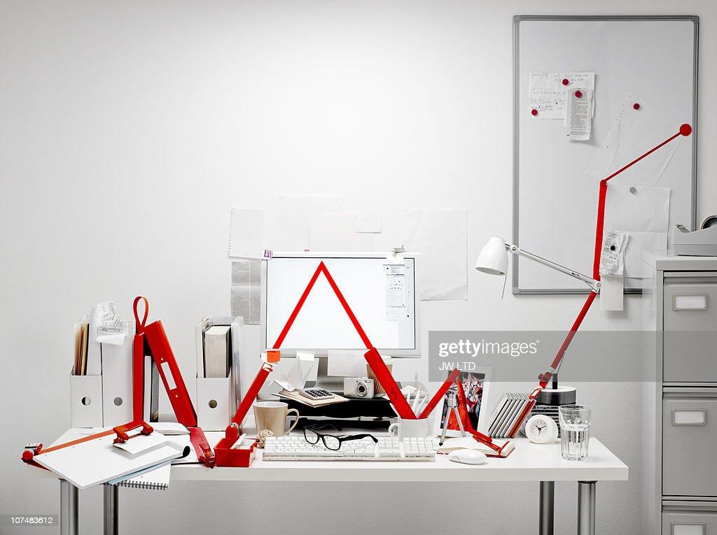 Office equipment making graph line : ストックフォト
