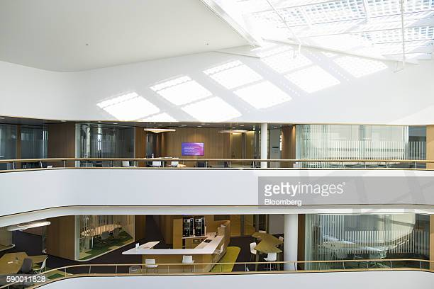 Office floors sit at the headquarters of Akzo Nobel NV in the Zuidas business district of Amsterdam Netherlands on Monday Aug 15 2016 The Dutch city...