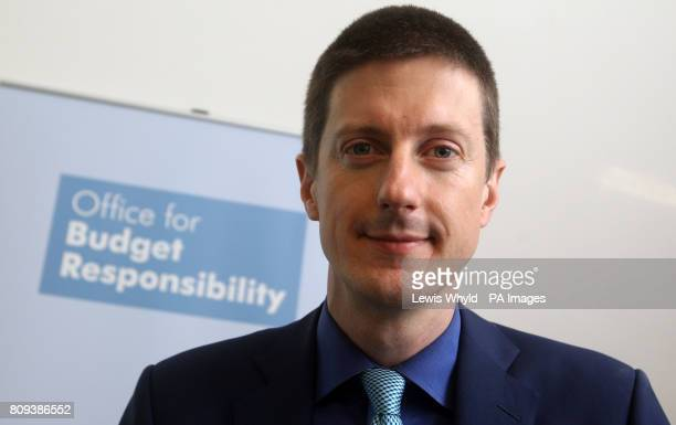 Office for Budget Responsibility chairman Robert Chote at a press conference at the Institute for Government London as the organisation publishes its...