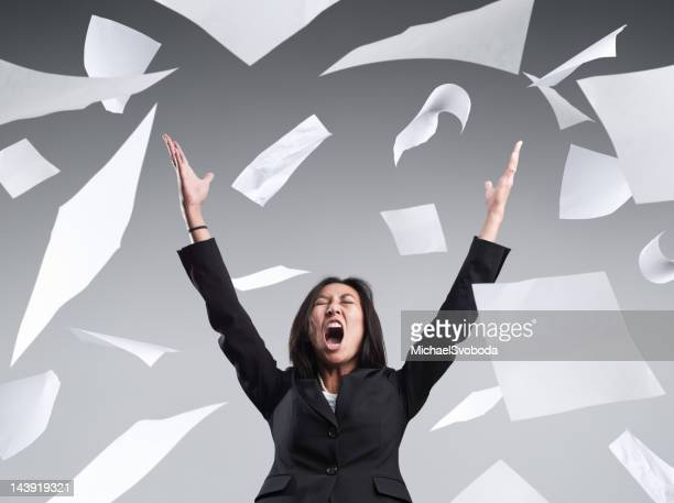 office frustration - hurling stock photos and pictures