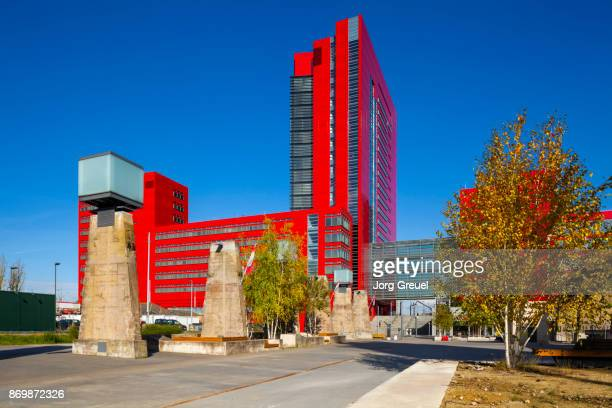 office high-rise building in belval, luxembourg - esch sur alzette stock pictures, royalty-free photos & images