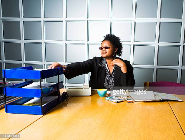 office hipster - outbox filing tray stock pictures, royalty-free photos & images