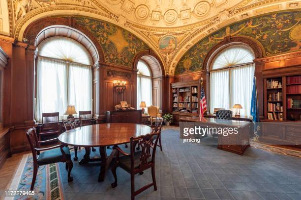 office in interior of library of congress, washington dc, usa - member of congress stock pictures, royalty-free photos & images