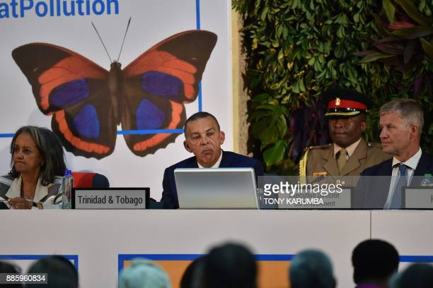 UN Office in Nairobi Director general Sahle Work Zewde Trinidad and Tobago President Anthony Carmona and UN Environment Executive Director Erik...