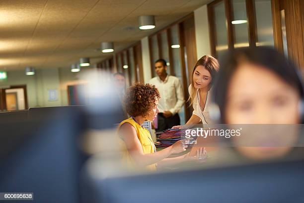 office junior teamwork