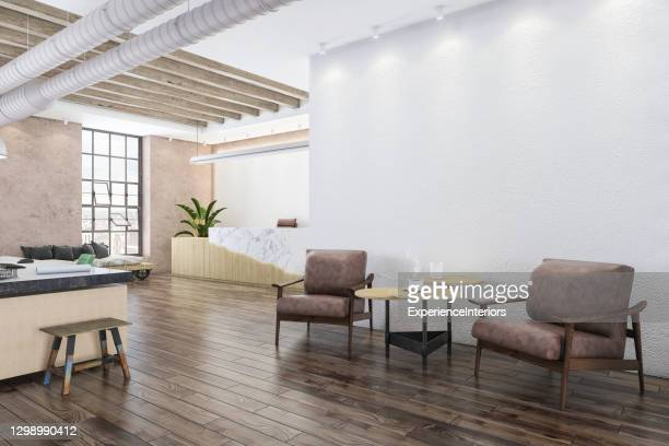 office lobby with armchairs - surrounding wall stock pictures, royalty-free photos & images
