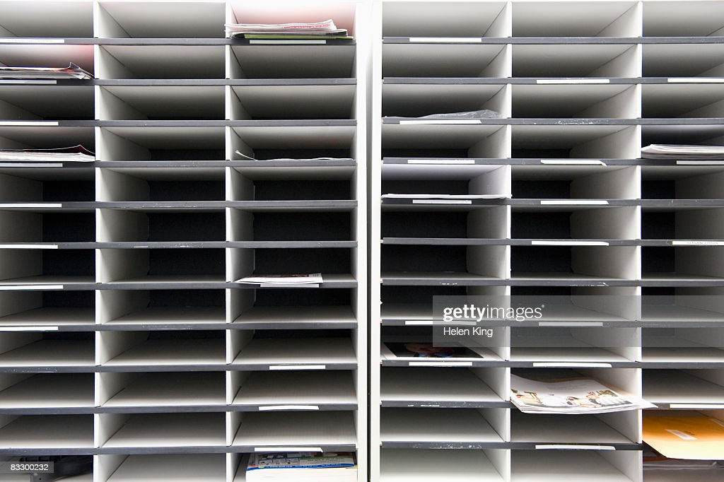 Office Mail Slots : Stock Photo