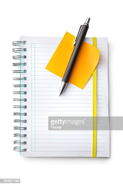 Office: Notebook, Pen and Adhesive Note