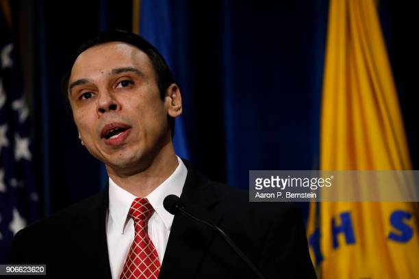 HHS Office of Civil Rights Director Roger Severino speaks at a news conference announcing a new division on Conscience and Religious Freedom at the...