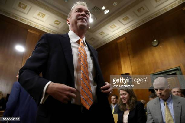 Office of Management and Budget Director Mick Mulvaney arrives for testimony before the Senate Budget Committee May 25 2017 in Washington DC Mulvaney...