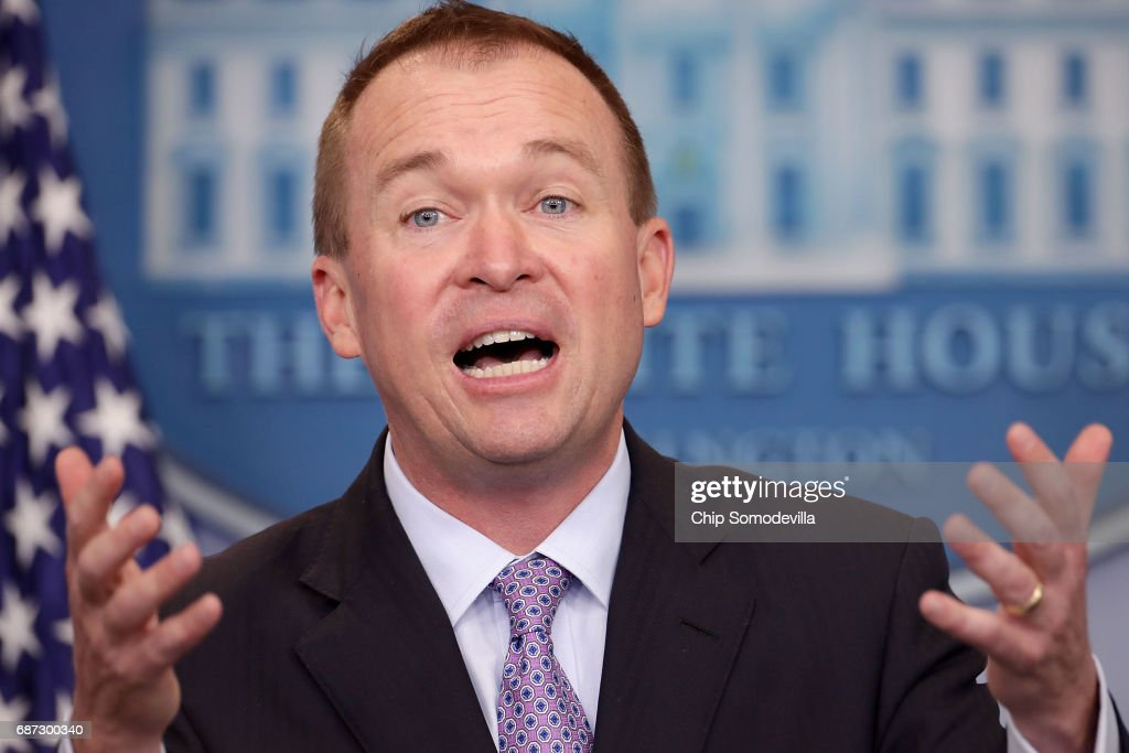 Office Of Management And Budget Director Mick Mulvaney Holding Briefing On Budget At White House : News Photo