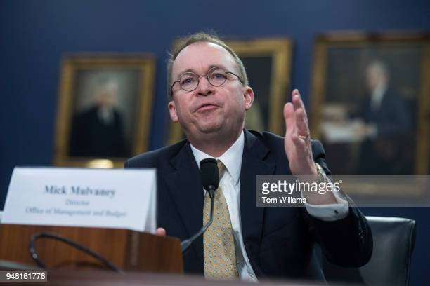 Office of Management and Budget Director Mick Mulvaney testifies before a House Appropriations Financial Services and General Government Subcommittee...