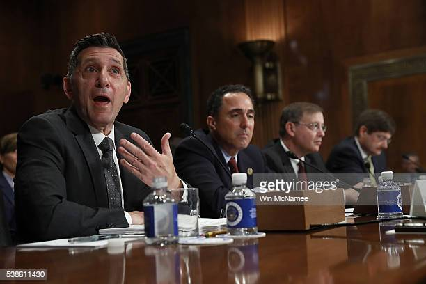 Office of National Drug Control Policy Director Michael Botticelli testifies before the Senate Judiciary Committee June 7 2016 in Washington DC The...