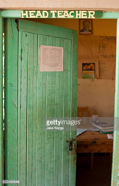 office of the head teacher at school in kenya - jake warga stock pictures, royalty-free photos & images