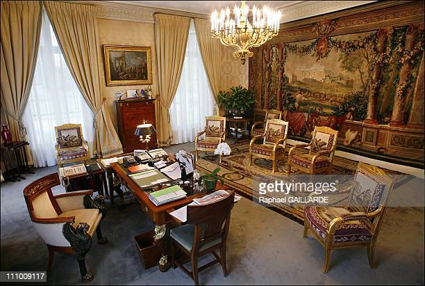 Office of the Senate's President Petit Luxembourg Senate's backstage in Paris France in September 2008