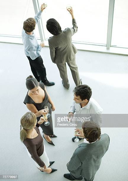Office party, high angle view