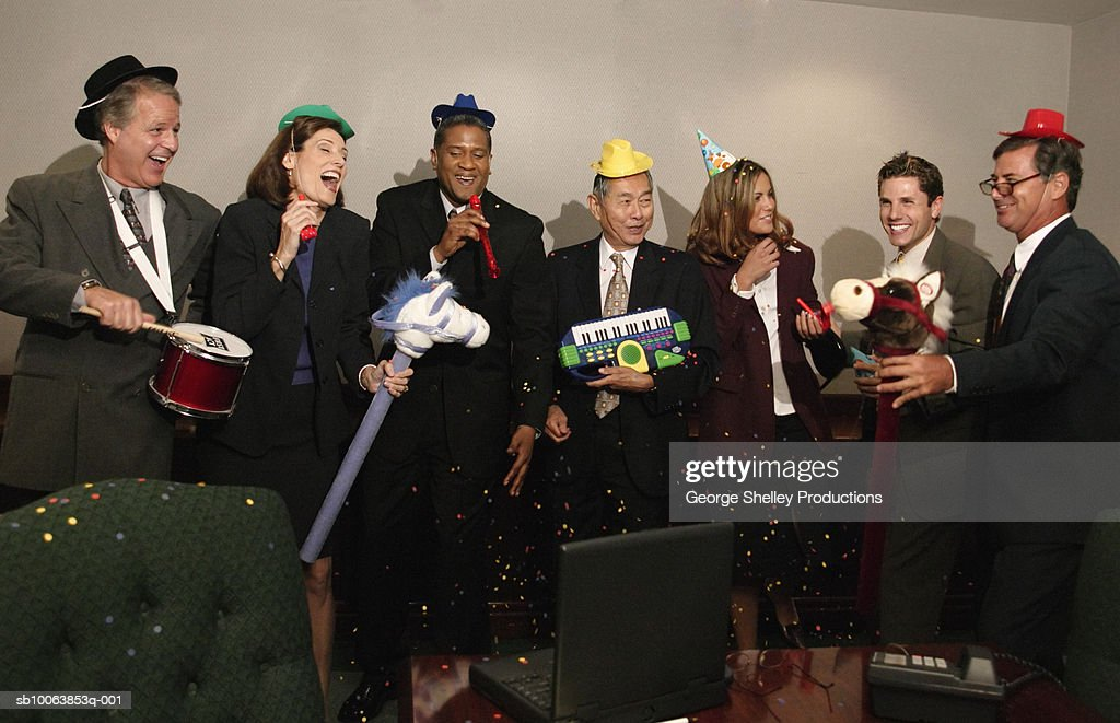 Office party in board room : Stock Photo