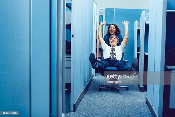 office party - practical joke stock photos and pictures