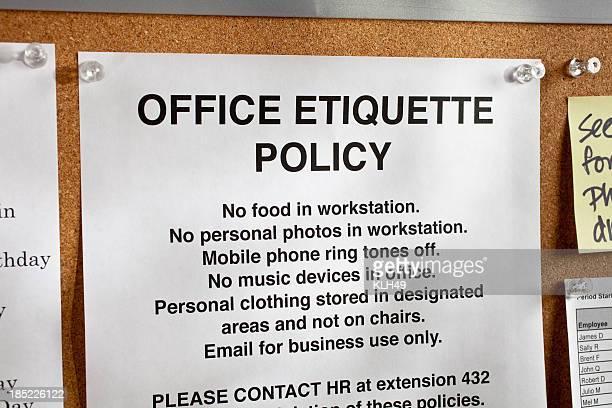 Büro Politik Hinweis