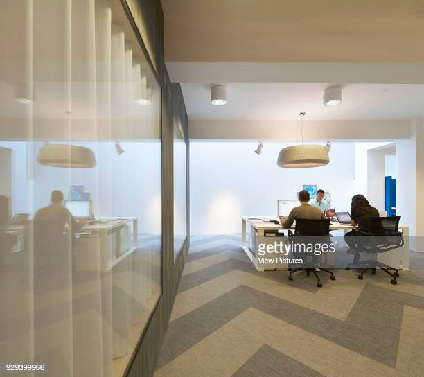 Office room with herringbone floor pattern Fold 7 Offices London United Kingdom Architect Paul Croft Studio 2014