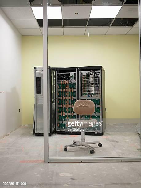 Office server room under construction