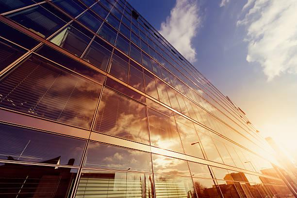 Office skysraper in the sun