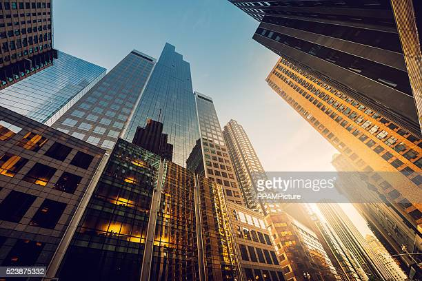 The original home of the skyscraper, New York City is at number 2 - 255 buildings are taller than 150 meters, 65 taller than 200 and 7 skyscrapers taller than 300 meters. The tallest is One Trade Center.