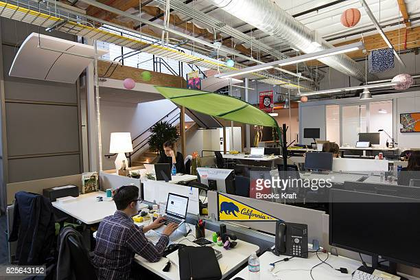 Office space inside the Googleplex corporate headquarters complex of Google Inc located in Mountain View California