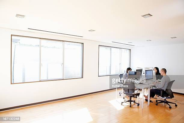 office space of a web design company