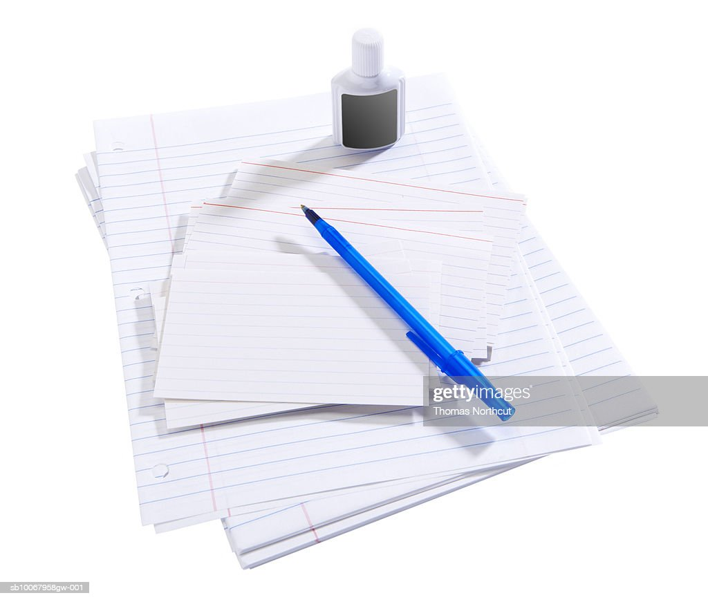 office supplies on white background high